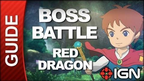 Ni No Kuni - Boss Battle Strategy Red Dragon