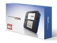 Nintendo 2DS blue packaging