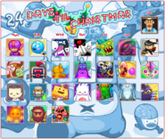 The Christmas 2013 calendar with opened avatars