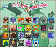 Nitrome 2.0 game's Christmas 2014 avatar calendar