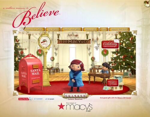 Macy's 2010 Believe Campaign Website