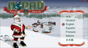 NORAD-Tracks-Santa-website 2009-Language Selection