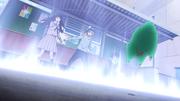 Yukine making a boundary