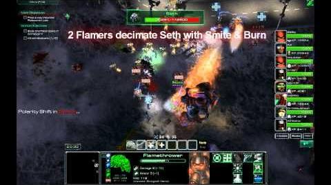 NOTD StarCraft - Flamethrower Gameplay