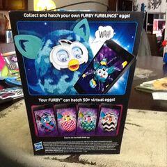 Back Of Furby BOOM! Blue Waves Box