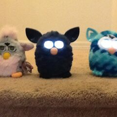 Furby BOOM! Next To Furby 2012 And Furby 1998