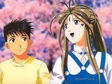 Belldandy and Keiichi