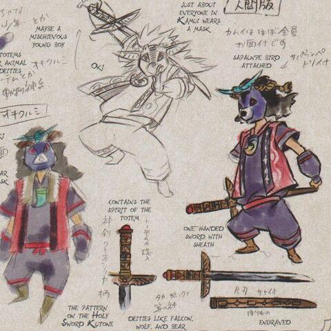 Oki's early concept art