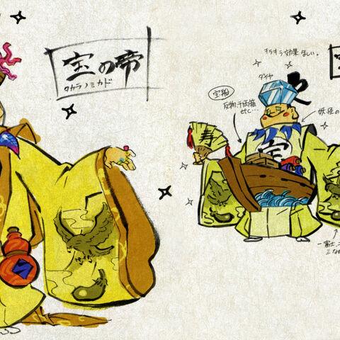 Concept art of Emperor Takara.