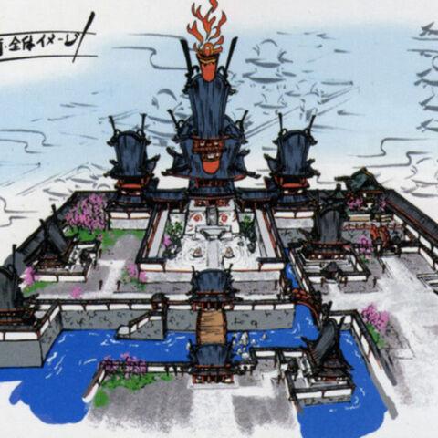 Concept art of the Aristocratic Quarter.