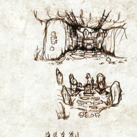 Concept art of the Cave of Nagi.