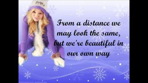 Olivia Holt - Snowflakes lyrics video full song-0