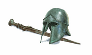 Helmet and Sword