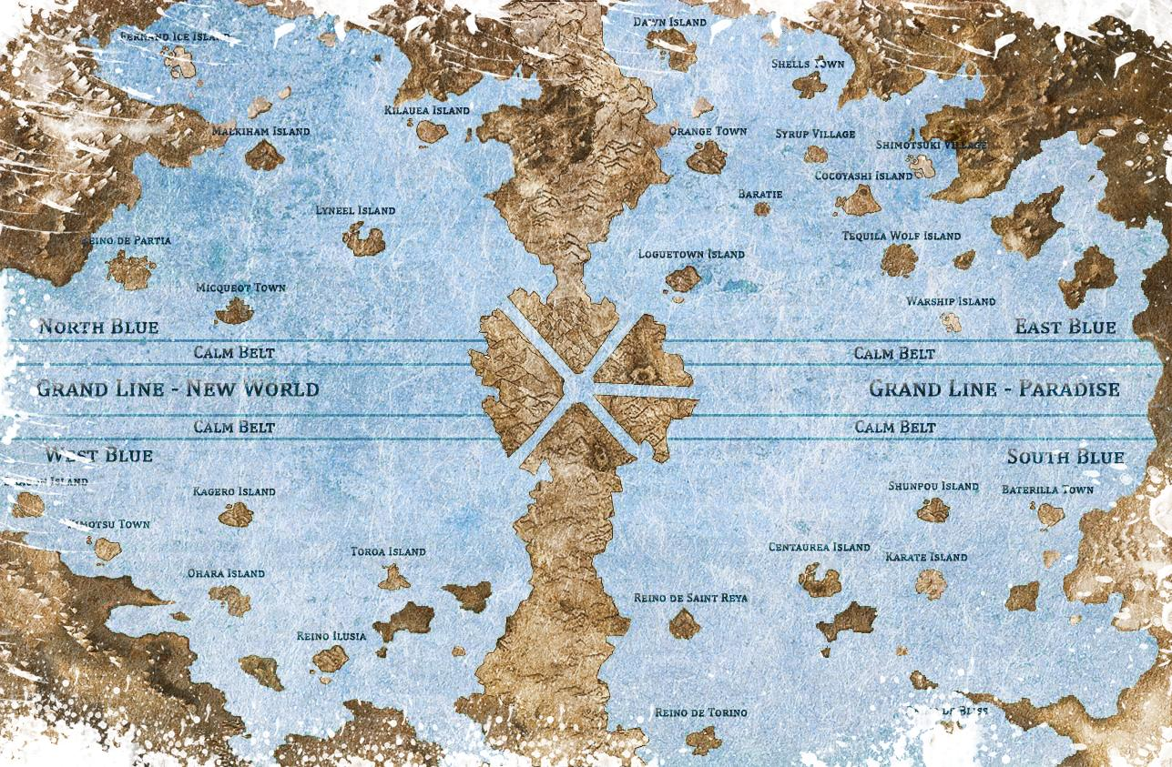 Resultado de imagen de Mapa one piece
