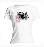 Group Photo White Skinny T-Shirt