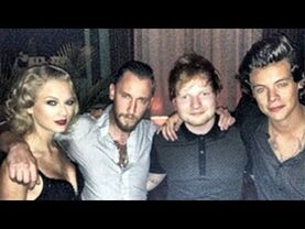 Harry and Taylor with Ed at the 2013 VMAs
