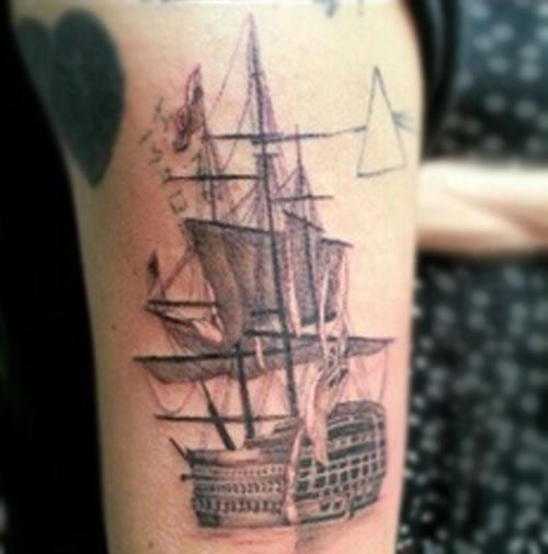 Harry Styles Booze Tattoo