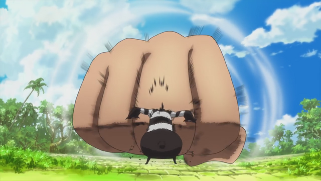 File:Luffy Uses Gear Third Against a Terror Bear.png