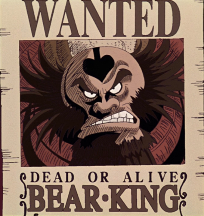 Image bear king 39 s movie 2 wanted one piece - One piece wanted poster ...