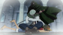 Dragon Saves Luffy from Smoker