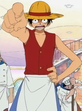 File:Luffy's Baratie Chore Boy Outfit.png