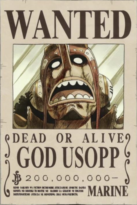 Image god usopp 39 s wanted one piece wiki - One piece wanted poster ...