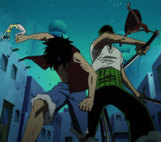 Luffy and Zoro Defeat Miss Valentine and Mr. 5