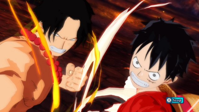 File:Luffy and Ace Team Up in Unlimited World Red.png