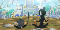 Brook and Zoro Pay Their Last Respects