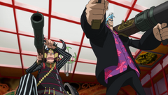 Usopp and Franky Fighting to Save Nami