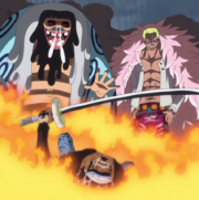 Law Defeated By Doflamingo and Trebol.png