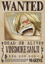 Sanji's Current Wanted Poster