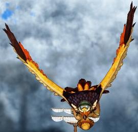 Тори Тори но Ми, модель: Орёл в действии