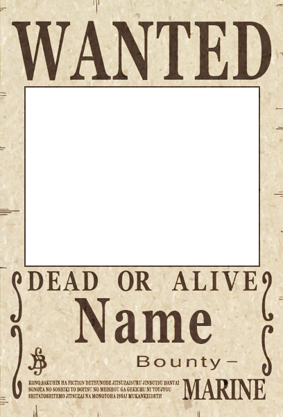 Image one piece wanted onepiece fanon wiki - One piece wanted poster ...