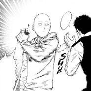 Saitama breaks phone