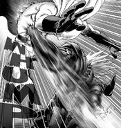Saitama punched in stomach