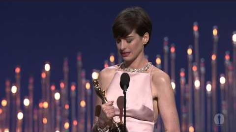 Anne Hathaway winning Best Supporting Actress