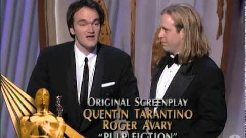 Quentin Tarantino and Roger Avary winning Best Original Screenplay