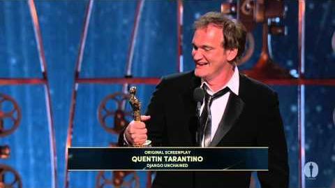 "Quentin Tarantino winning Best Original Screenplay for ""Django Unchained"""