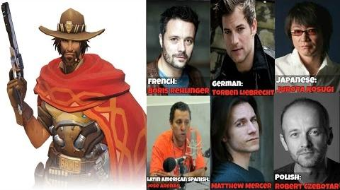 The Many Faces Of McCree McCree Voice Lines Quotes - Overwatch Voice Actors