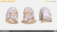 Reinhardt's Head high-poly turnaround (By Renaud Galand)