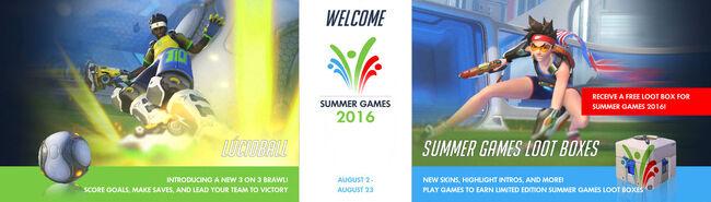Summer games banner