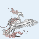 Avi ice swan wings and head