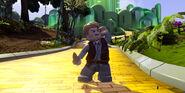 Lego Dimensions Owen Grady from Jurassic World in the Land of OZ.