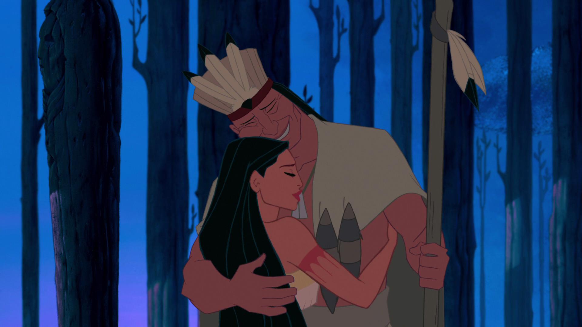 Image - Pocahontas Hugs Her Father.jpg