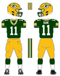Packers color uniform