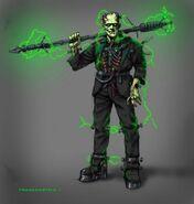 Concept art of Frankenstein