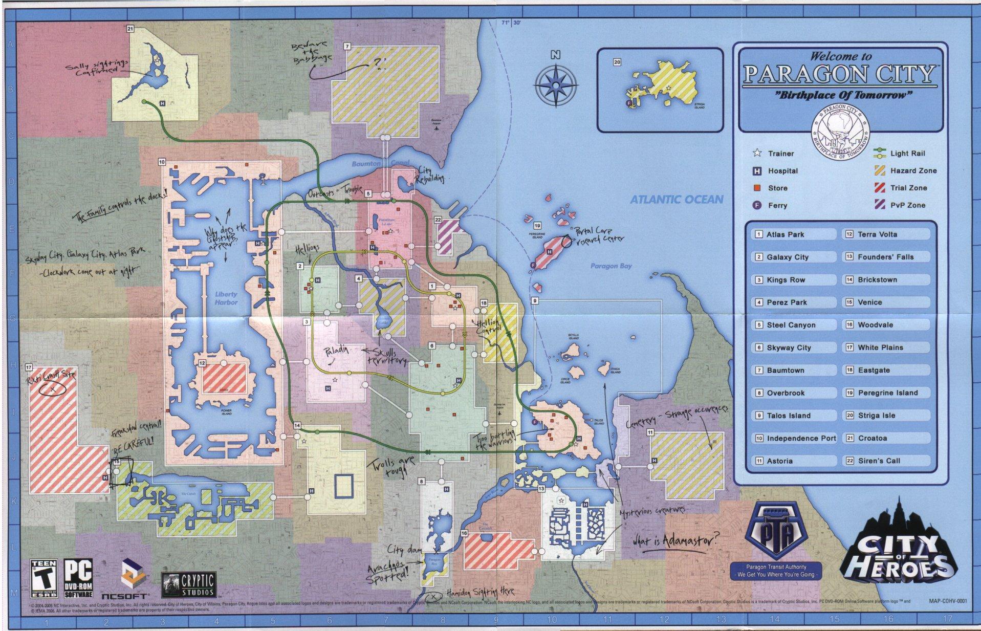 Paragon City Map