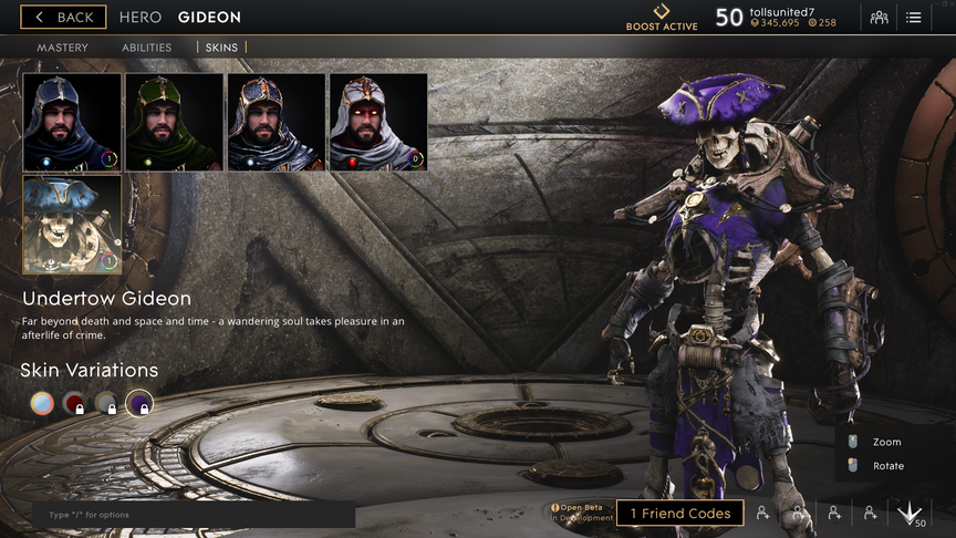 Gideon Purple Undertow skin