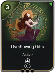 Overflowing Gifts card